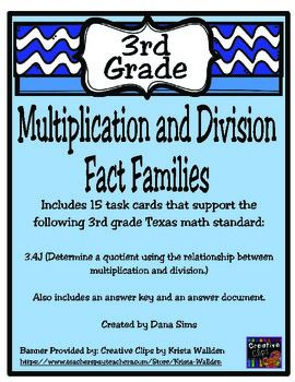 multiplication and division fact families teks 3 4j the o 39 jays keys and math. Black Bedroom Furniture Sets. Home Design Ideas