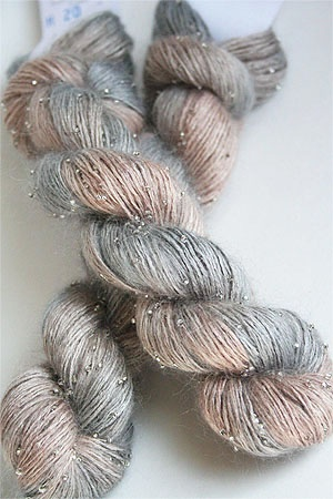 Artyarns Beaded Silk Mohair Yarn in H20 Silver