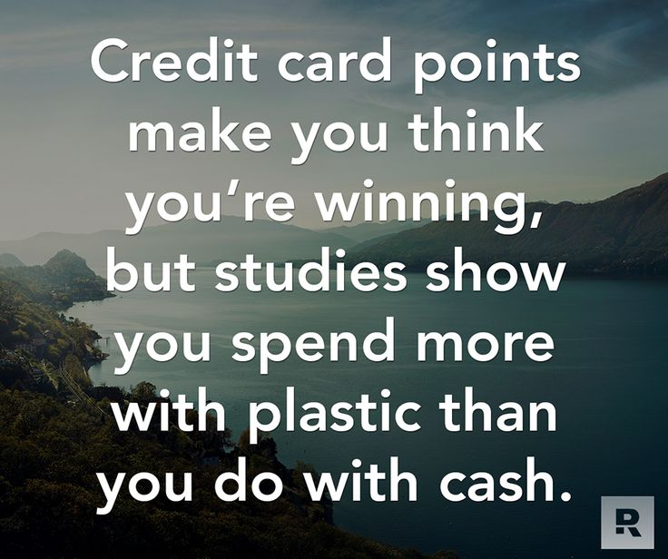 Credit card points make you think you're winning, but studies show you spend more with plastic than you do with cash.  07.02.14