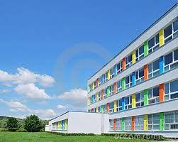 deze kleuren maken de school gezellig en vrolijk!