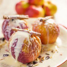 Bratapfel Rezept mit Vanillesoße