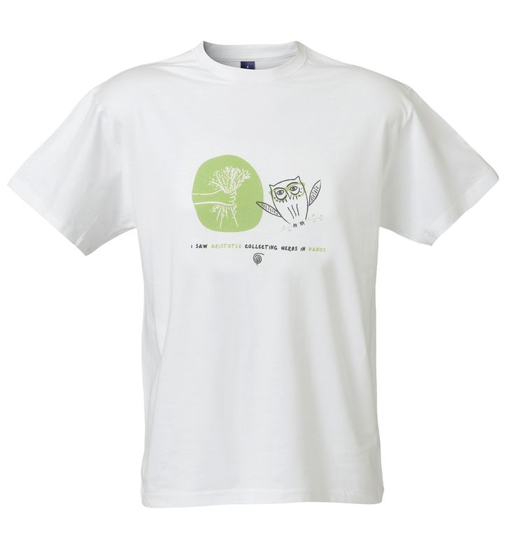 T-SHIRT Naxos: I saw Aristotle collecting herbs in Naxos! Material: 100% Cotton.