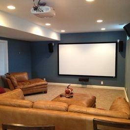 30 best images about ideal home theater room on pinterest - Basement home theater design ideas ...