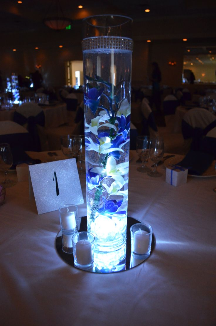 Centerpiece decoration, submersible LED tea light - votive ...