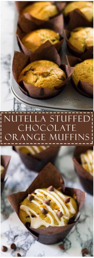 Nutella Stuffed Chocolate Orange Muffins   Marsha's Baking Addiction