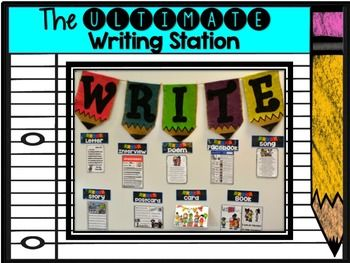 This 185 page Ultimate Writing Station is absolutely LOADED with all kinds of new writing stations that are hard to find. This is a one of a kind creation that will get your students running to work on their writing! The pack has been kid tested with my own students all year long. This is part 1 of 2 writing stations I will be creating. I have never seen my first grade students have such a love of writing! I promise you your students will love to write with these phenomenal writing…
