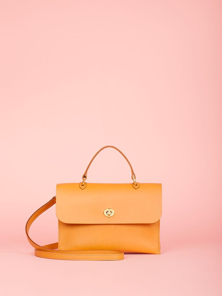 Hebe - Caramel Leather Bag, Mimi Berry SS16