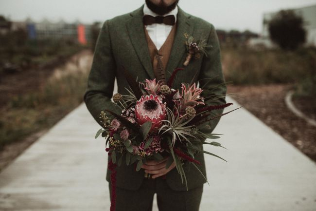 Tropical wedding bouquet by mk floraldesign