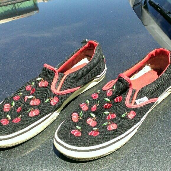 Vans Cherries Canvas Skater Shoes