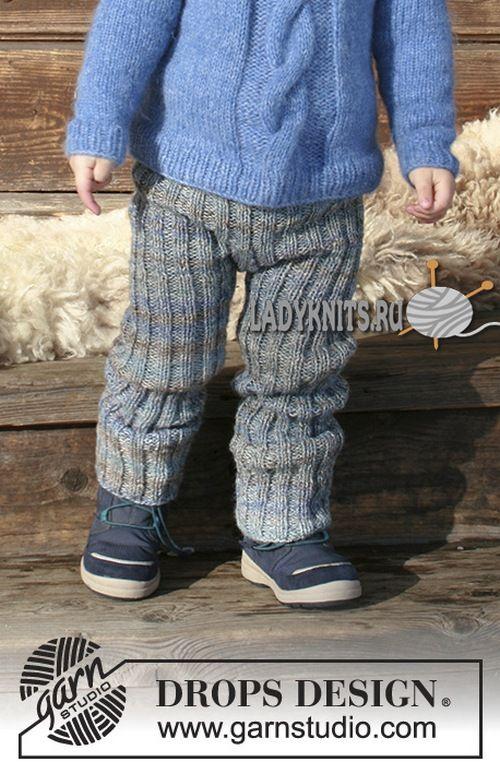 Как связать спицами штаны для мальчика от 2 до 12 лет, описание