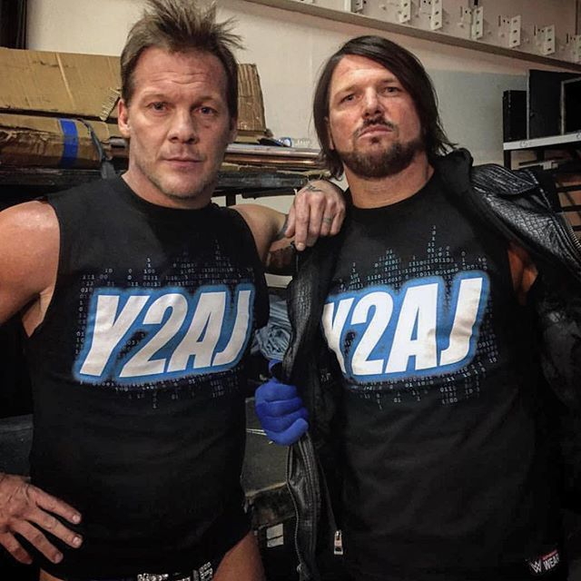 Y2AJ (Chris Jericho & AJ Styles) I still feel sorry for every sucker who bought that shirt.