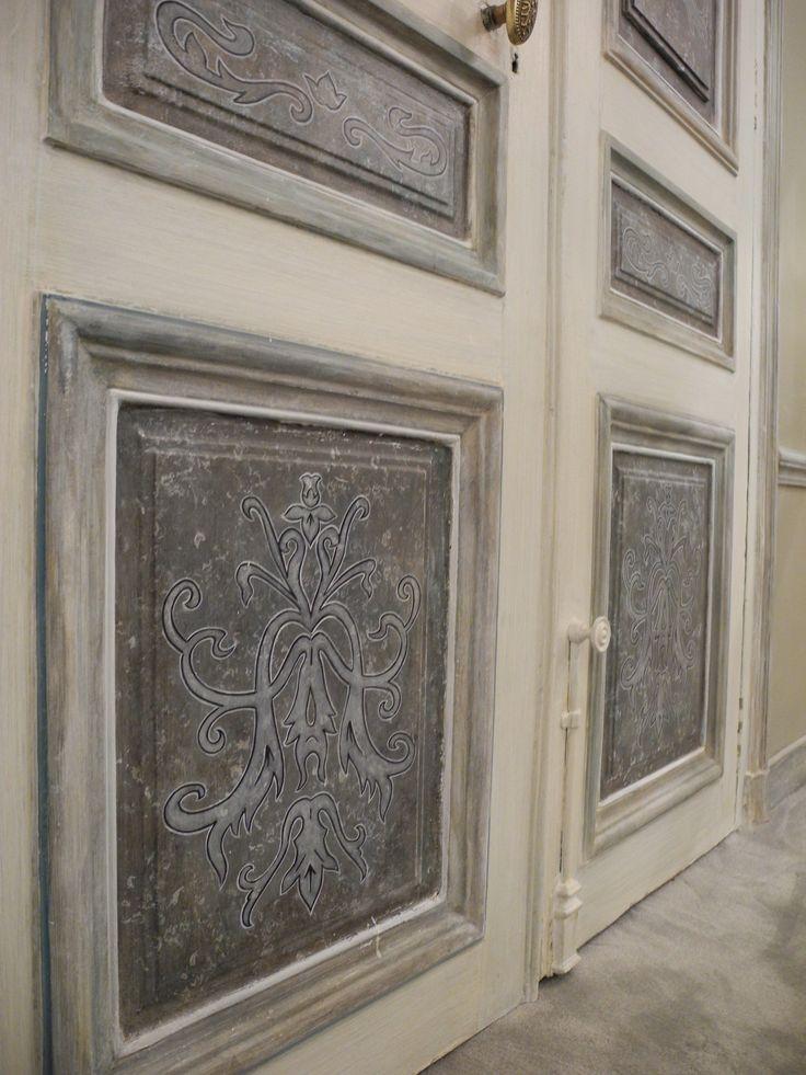 Peinture décorative, détail.