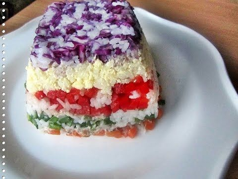 Как приготовить цветной рис. Цветной рис с консервированной рыбой