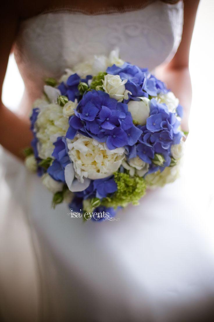 bouquet peonies and hydrangeas blu bouquet peonie e ortensia blu  www.isaevents.it