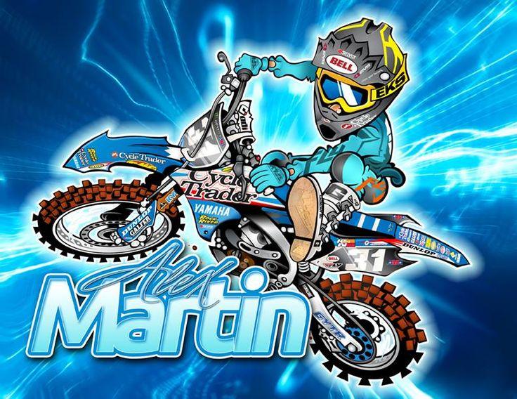 Resultado de imagen de cartoon motocross