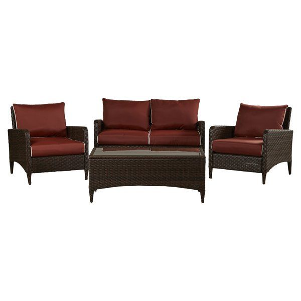 Searching Mosca 4 Piece Sofa Set With Cushions By World