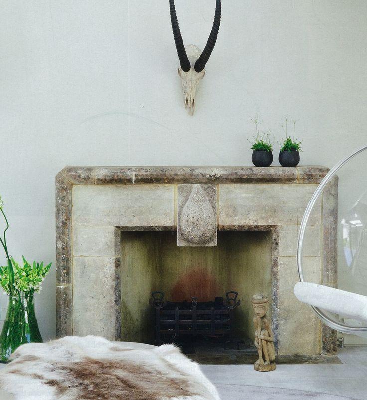 Stone Fireplace Surround Fireplace Pinterest Stone