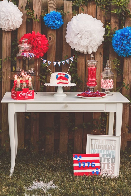 red white blue wedding dessert bar Nessa K Photography1 275x412 Happy 4th of July!