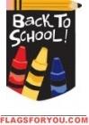 Applique Back To School  House Flag