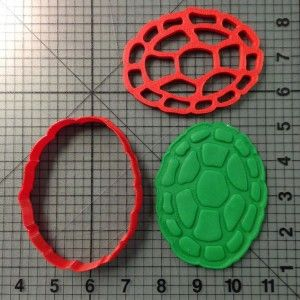 Teenage Mutant Ninja Turtle Shell Cookie Cutter and Stamp