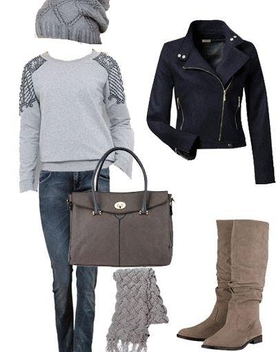 FashionLike.gr - Γυναικείο Outfit στην αγαπημένη απόχρωση του γκρι! >>> http://bit.ly/191GtVA