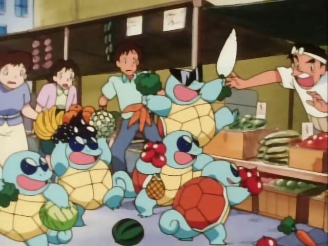 "The #Squirtle Squad from #Pokemon Season 1 Episode 12 - ""Here Comes the Squirtle Squad"". Read the whole story for this season @ http://www.pokemondungeon.com/animated-series/pokemon-s01-pokemon-indigo-league"
