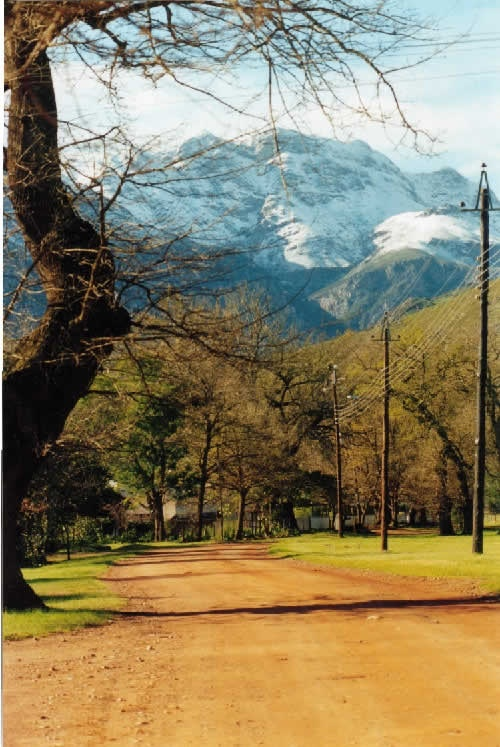 Peaceful town of Greyton in Winter - 1 1/2 hours drive from Cape Town - close to Hermanus.