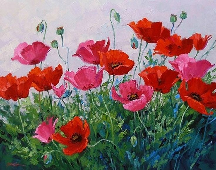 Simple Flower Garden Paintings 131 best floral — poppies images on pinterest | poppies, paintings