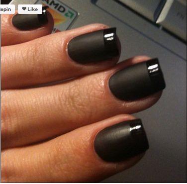 black wedding nail varnish