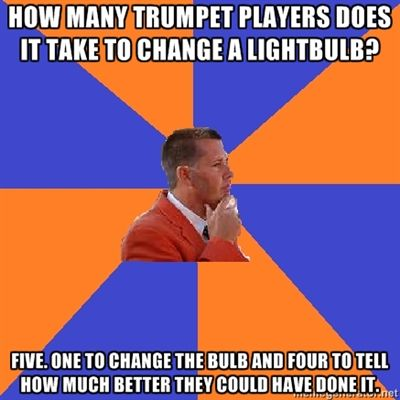 Reminds me of my brother because he's a trumpet player and love this joke. It's funny cuz it's true