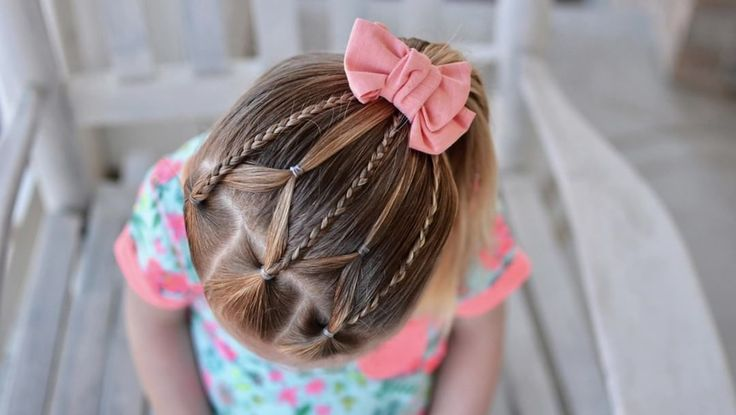 "205 Likes, 6 Comments - Tiffany ❤️ Hair For Toddlers (@easytoddlerhairstyles) on Instagram: ""VIDEO tutorial of the Braids and Elastic Web that I posted last week. This is one that I will…"""