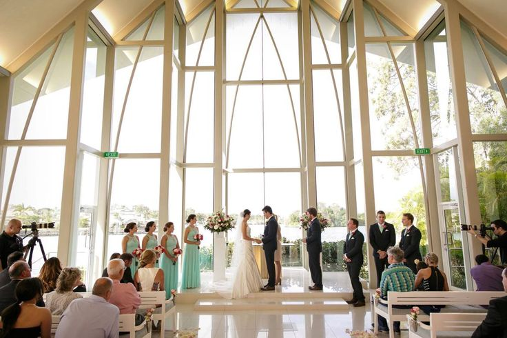 The Intercontinental's Chapel is a unique structure and a wonderful place for a wedding ceremony on the Gold Coast.