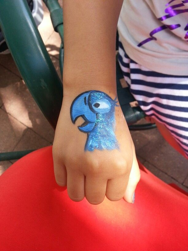 Rio 2 birthday party I did face paint there!