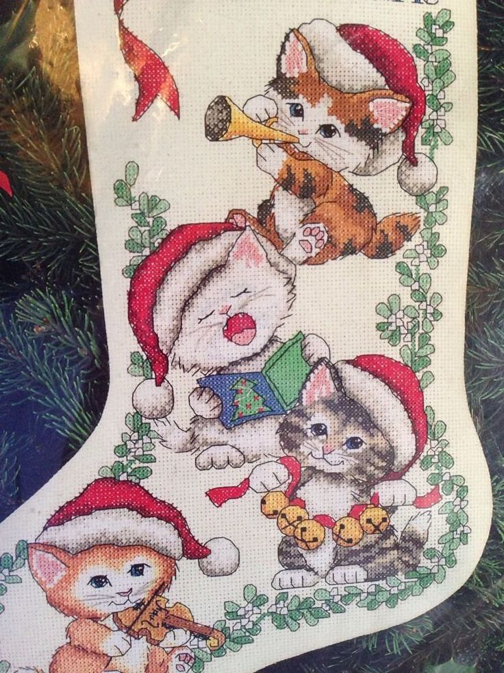 Dimensions Counted Cross Stitch Merry Kittens Christmas