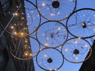 Bicycle Lights & Pretty Sky