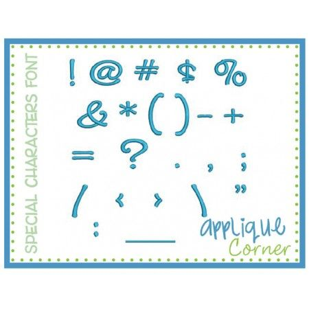 Special Characters Embroidery Set