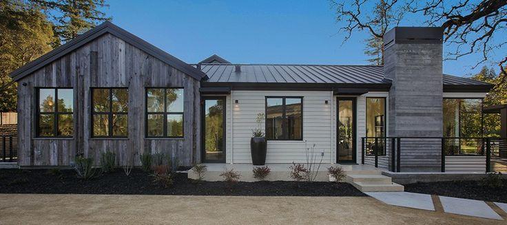 Custom Modern Home Construction, Napa-Style Modern, Woodside CA