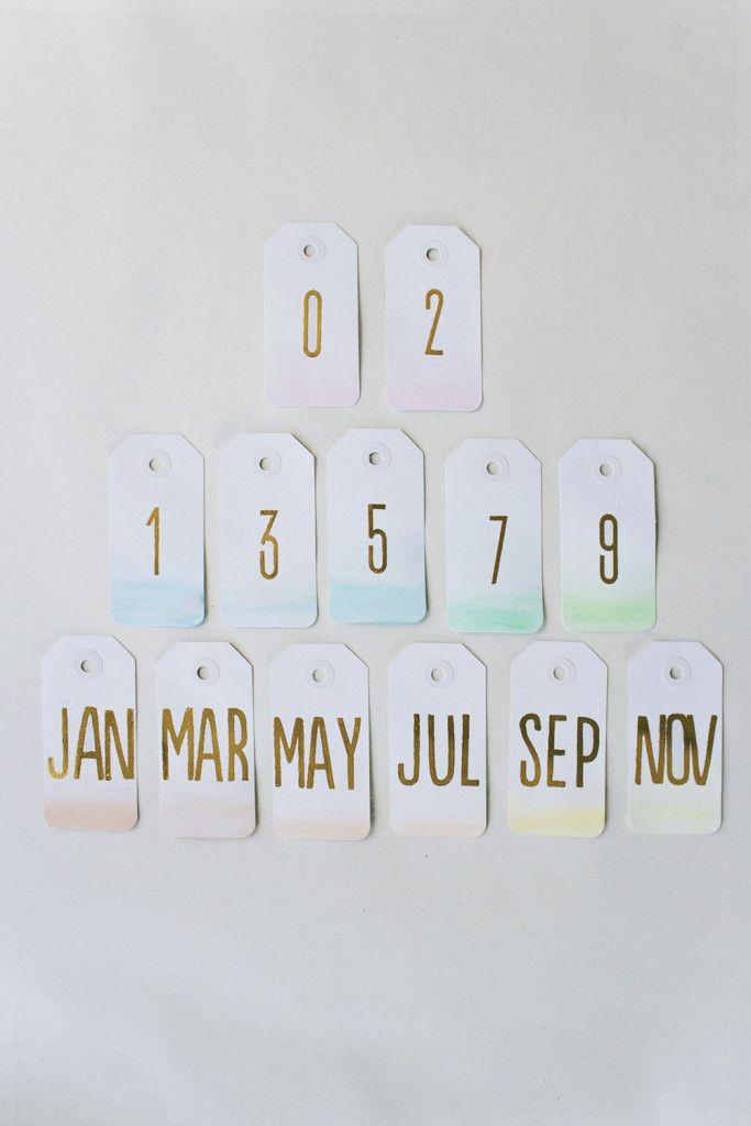 Diy: fabriquez un calendrier ombré pour votre bureau!