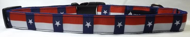 Texas Flag Dog Collar - Lone Star State Collar and/or Leash  FREE Shipping by ThePawMaster on Etsy