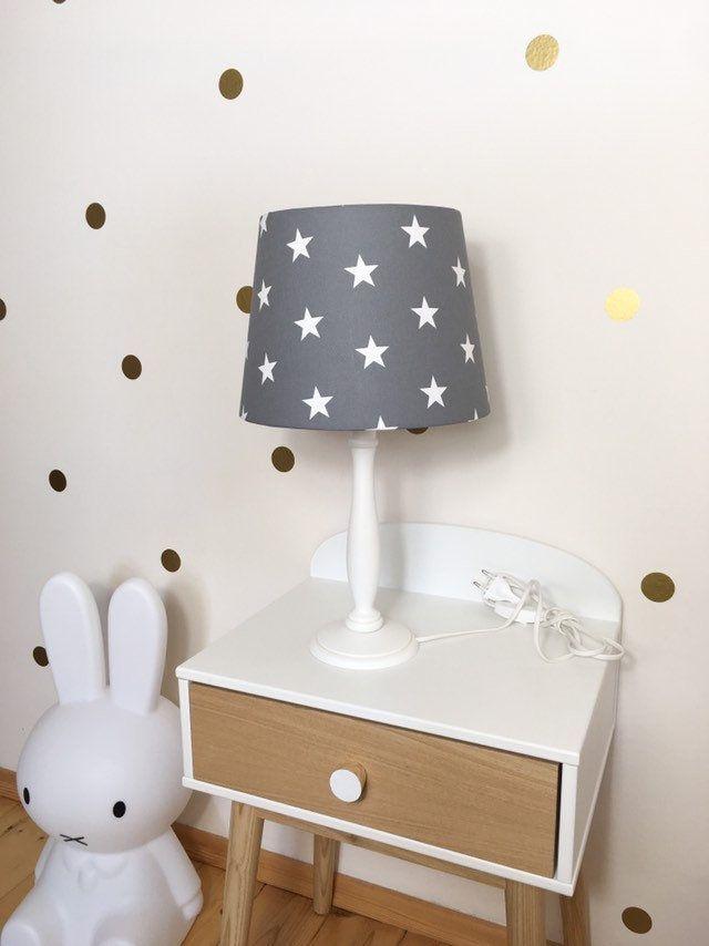 Tischlampe Kinderzimmer Kinderstern Stern Grau Dekostern Lampenschirm Kind Deko Etsy