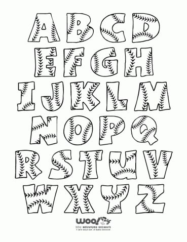 Printable Baseball Alphabet Letters - Other great printables, too