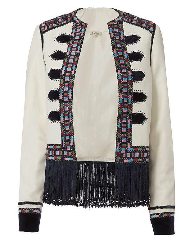 Shop the Talitha Zoya Embroidered Fringe Military Jacket & other designer styles at IntermixOnline.com. Free shipping +$150.