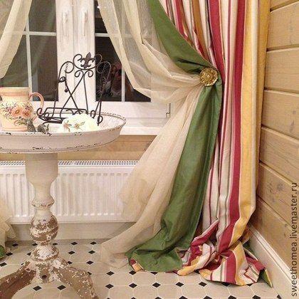 Текстиль, ковры ручной работы. Ярмарка Мастеров - ручная работа. Купить Текстиль - кухня/столовая. Handmade. Шторы для кухни, пошив на заказ