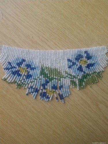 Different  patterns for necklaces like this ... | Biser.info - all about beads and beaded works - Tutorial - 1