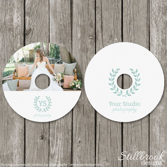 CD Label Template - Wedding Photography DVD Labels - Personalized Photo CD Favor