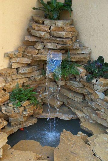 M s de 25 ideas incre bles sobre fuentes de jard n en - Fuentes de pared de piedra ...