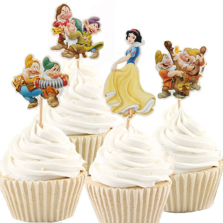 48pcs/lot New princesses Cartoon Cupcake Cake Toppers Party Birthday Children #Unbranded #Party