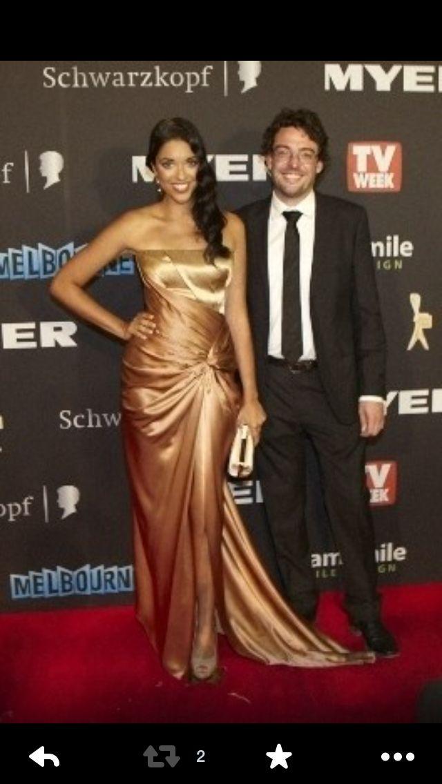 Logies 2012 Kristy Best and Joe Hildebrand ABC2 TV Australia