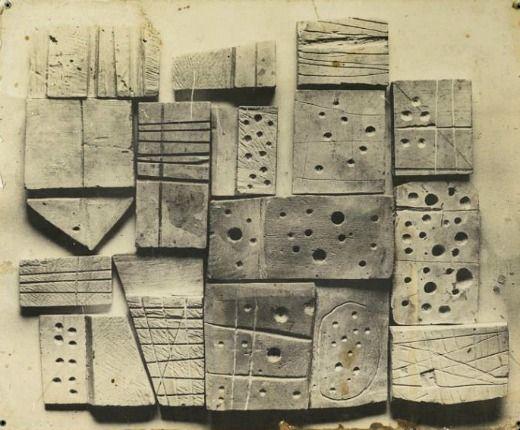 whitehotel:  Nigel Henderson, Plaster blocks by Eduardo Paolozzi, 1952 (1953)