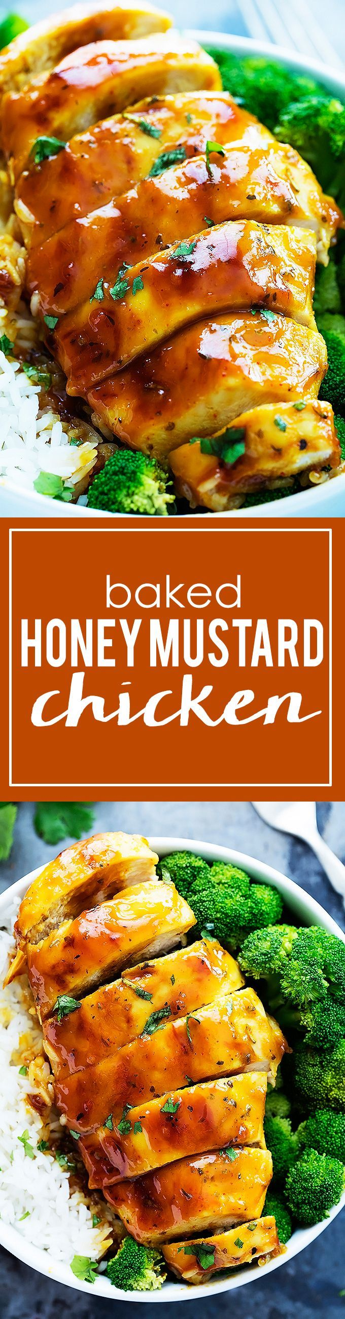 Savory, juicy chicken baked in a zesty honey mustard sauce! Perfect for serving with your favorite veggies over noodles or rice. Tell me you…